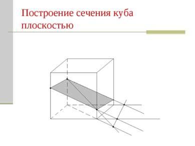 Построение сечения куба плоскостью