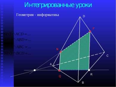 А С В D N P Q R Интегрированные уроки Геометрия - информатика