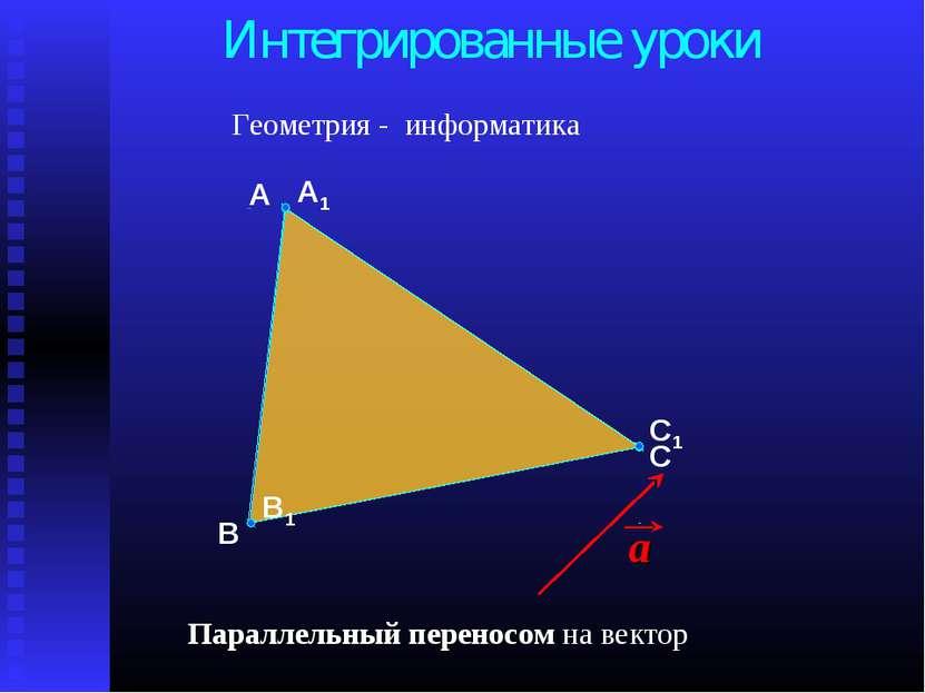 В А С Интегрированные уроки Геометрия - информатика Параллельный переносом на...