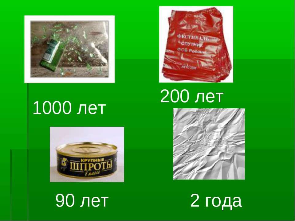 2 года 90 лет 200 лет 1000 лет