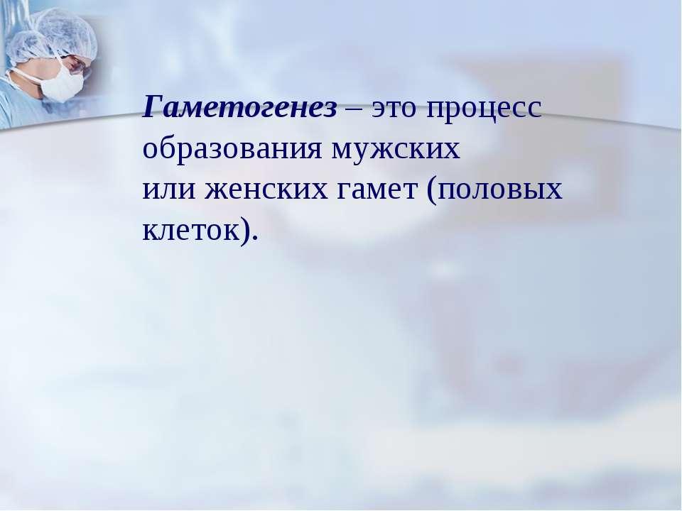 Гаметогенез – это процесс образования мужских или женских гамет (половых клет...
