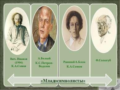 Вяч. Иванов (1906) К.А.Сомов «Младосимволисты»