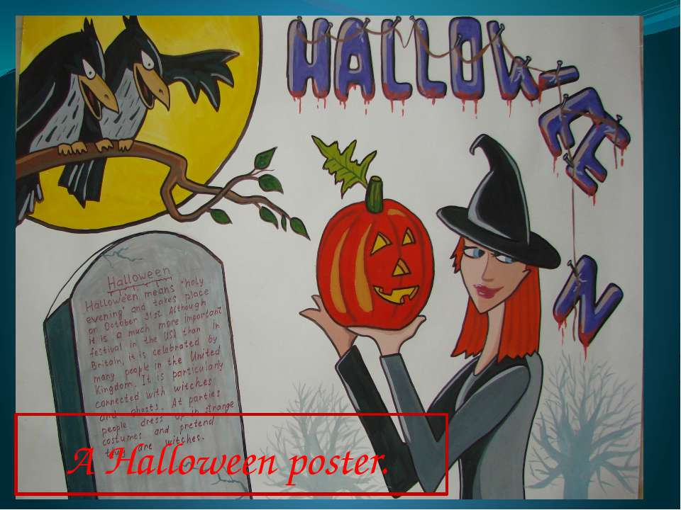 A Halloween poster.