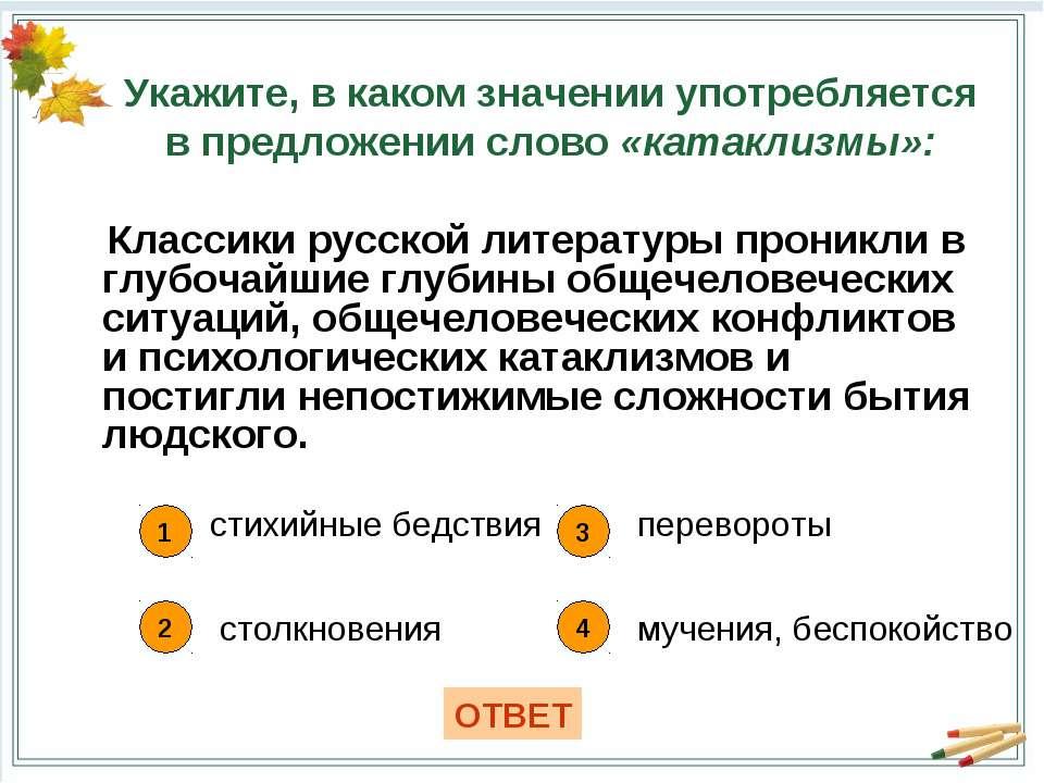 Классики русской литературы проникли в глубочайшие глубины общечеловеческих с...