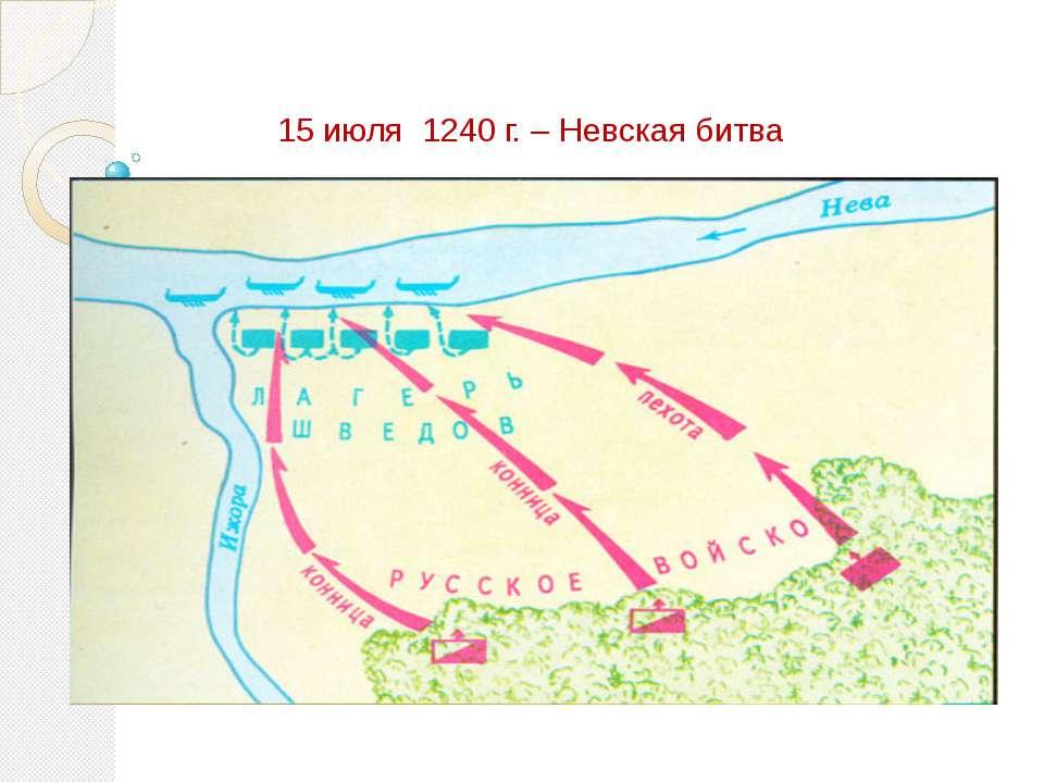15 июля 1240 г. – Невская битва
