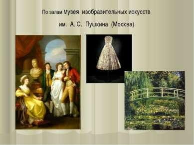 По залам Музея изобразительных искусств им. А. С. Пушкина (Москва)