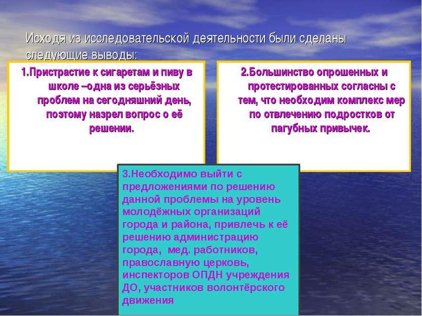 Исходя из исследовательской деятельности были сделаны следующие выводы: 1.При...