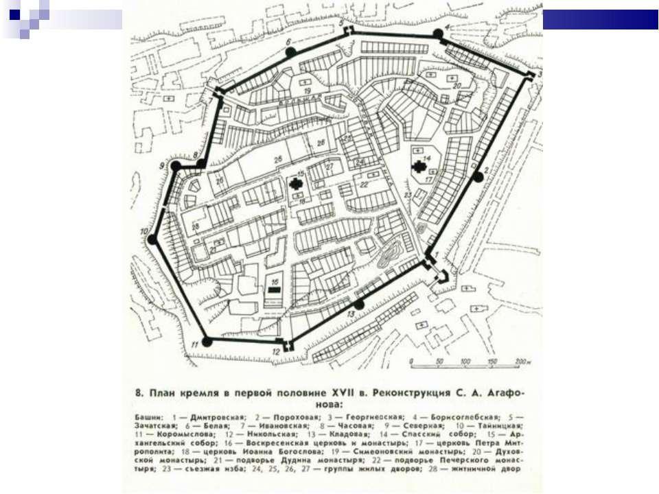 схема древнего кремля