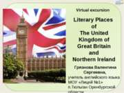 Literary Places of The United Kingdom of Great Britain and Northern Ireland