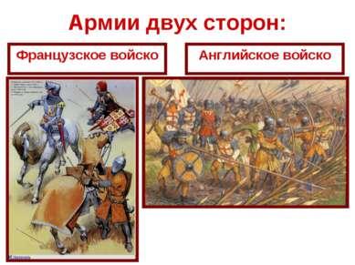 Армии двух сторон: Французское войско Английское войско
