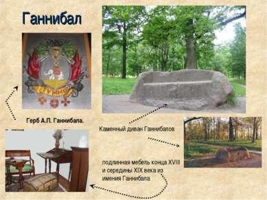 Ганнибал Герб А.П. Ганнибала. подлинная мебель конца XVIII и середины XIX век...