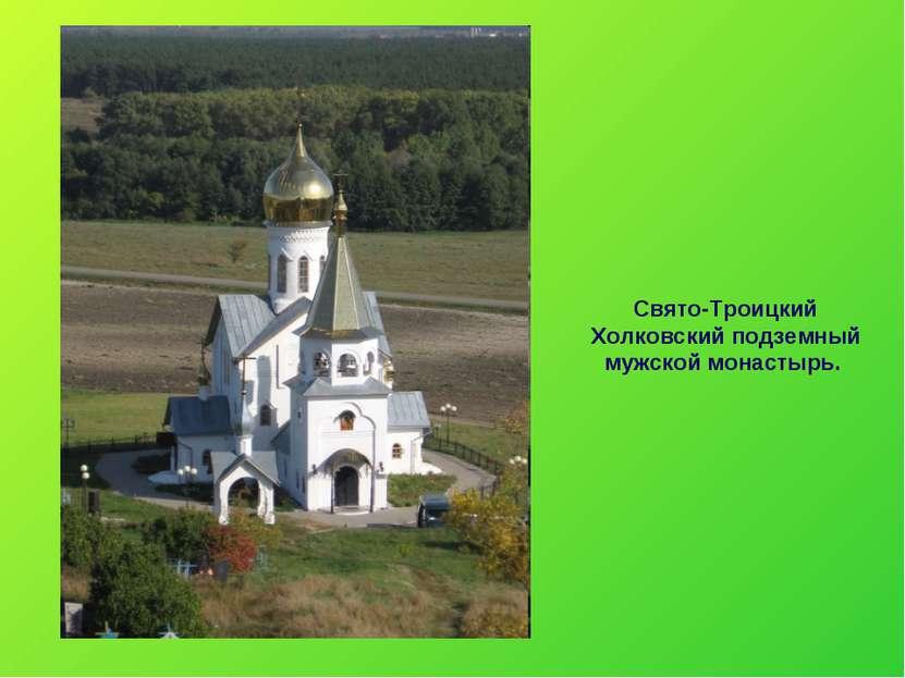 Свято-Троицкий Холковский подземный мужской монастырь.