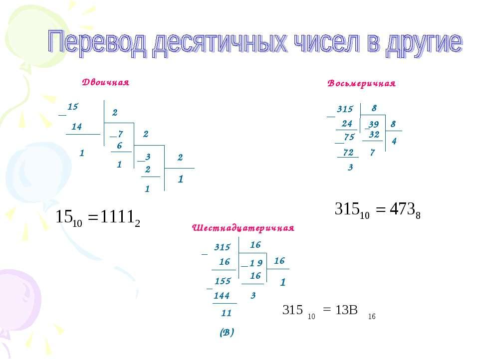 315 24 75 72 3 8 32 7 8 4 315 16 9 16 155 144 11 (В) 16 3 16 1 15 2 2 2 14 1 ...