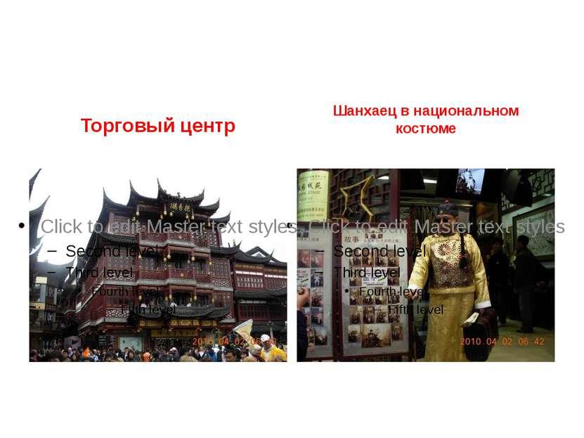 Торговый центр Шанхаец в национальном костюме