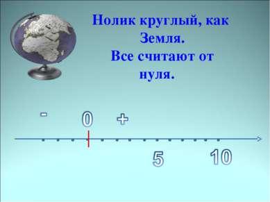 Нолик круглый, как Земля. Все считают от нуля.