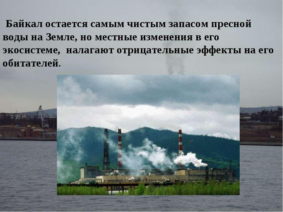 Байкал остается самым чистым запасом пресной воды на Земле, но местные измене...