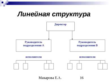 Линейная структура Макарова Е.А.