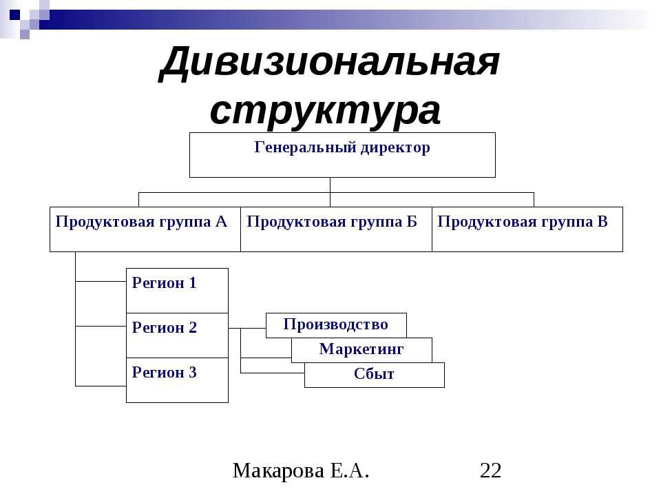 Дивизиональная структура Макарова Е.А.