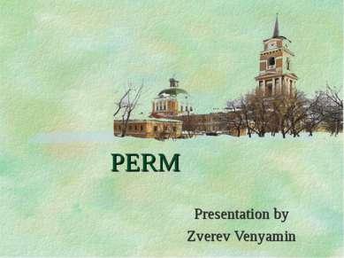 PERM Presentation by Zverev Venyamin