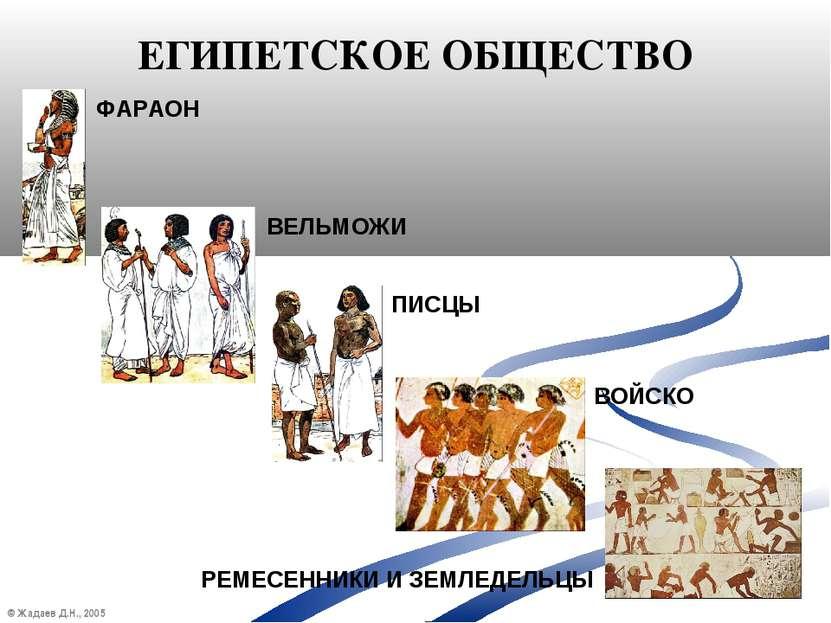 © Жадаев Д.Н., 2005 ЕГИПЕТСКОЕ ОБЩЕСТВО