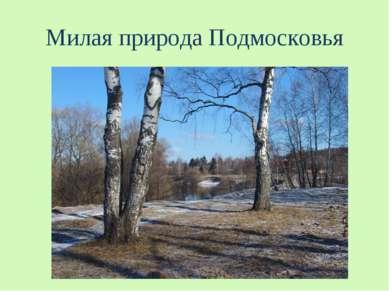 Милая природа Подмосковья