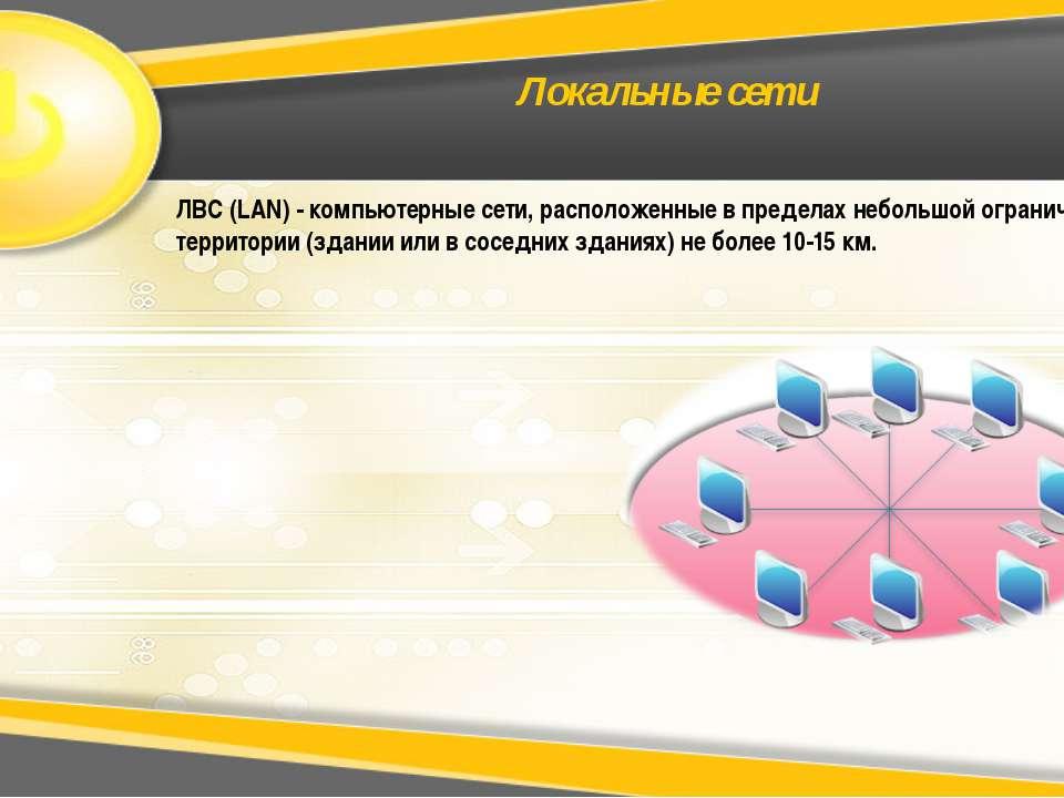 Локальные сети ЛВС (LAN) - компьютерные сети, расположенные в пределах неболь...