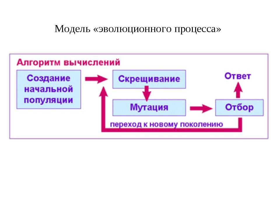 Модель «эволюционного процесса»