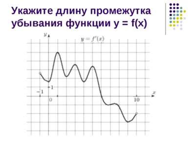 Укажите длину промежутка убывания функции у = f(х)