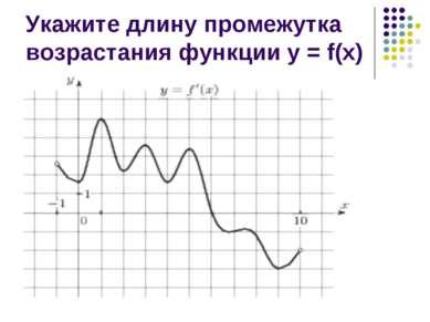 Укажите длину промежутка возрастания функции у = f(х)