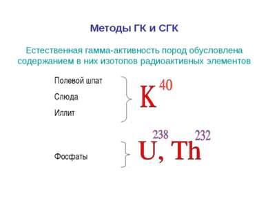 Методы ГК и СГК Естественная гамма-активность пород обусловлена содержанием в...
