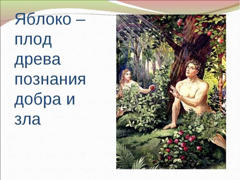 Яблоко – плод древа познания добра и зла