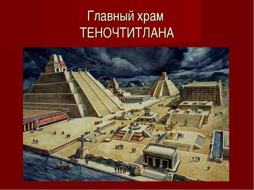 Главный храм ТЕНОЧТИТЛАНА
