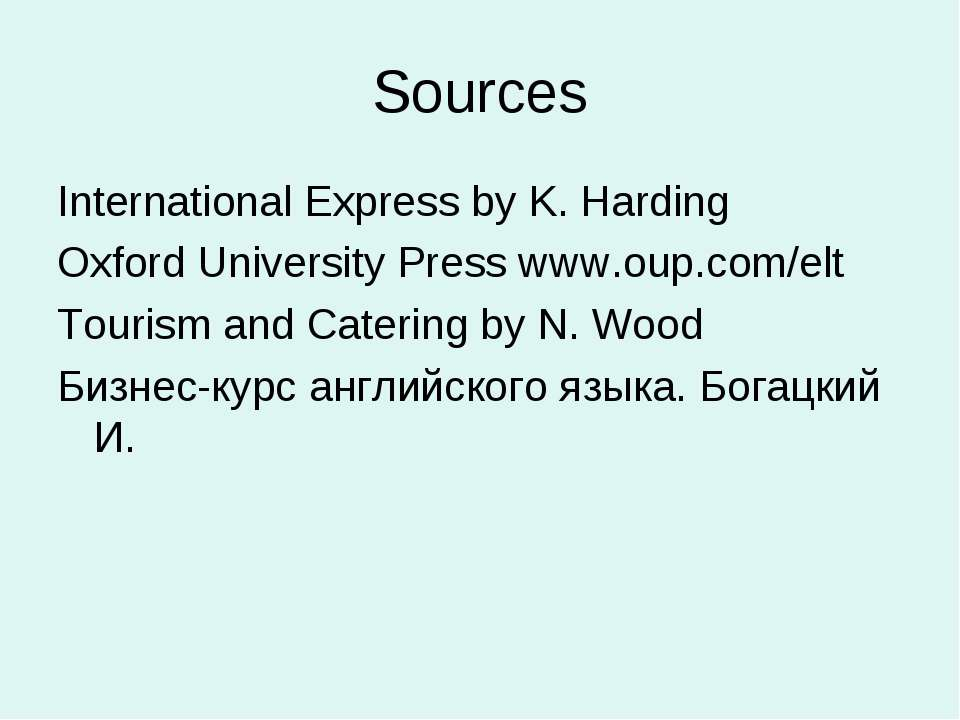Sources International Express by K. Harding Oxford University Press www.oup.c...