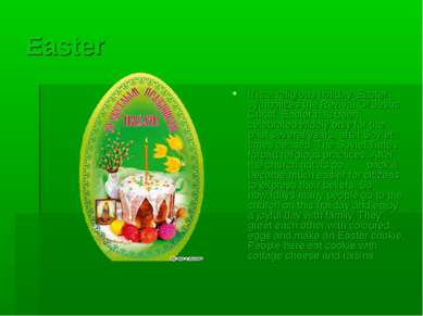 Easter It is a religious holiday. Easter symbolizes the Revival Of Jesus Chri...