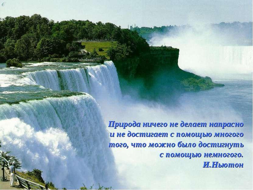 Природа ничего не делает напрасно и не достигает с помощью многого того, что ...