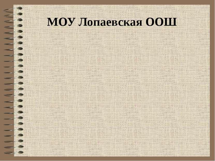 МОУ Лопаевская ООШ