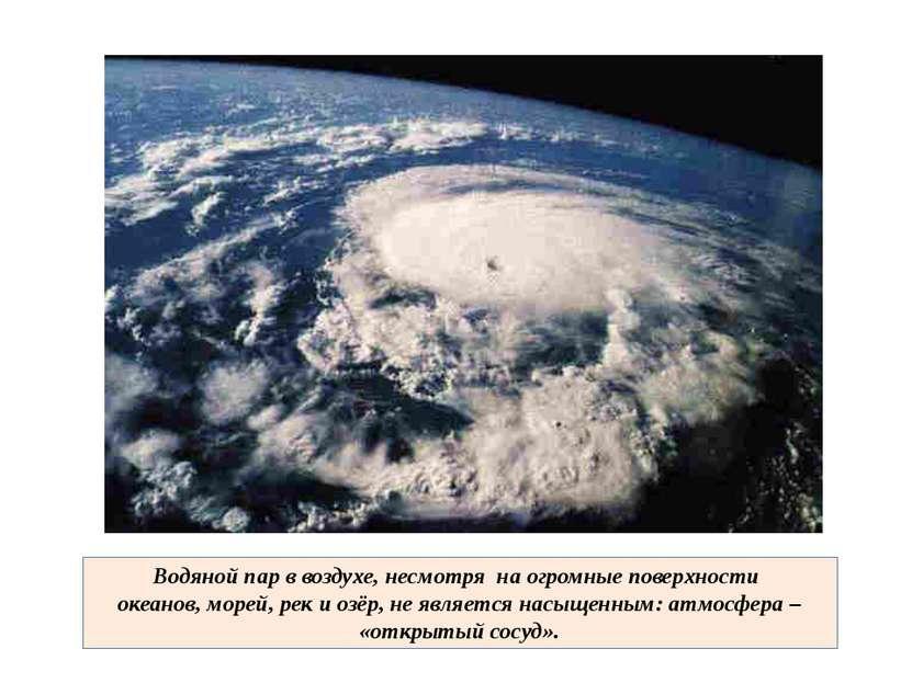 Водяной пар в воздухе, несмотря на огромные поверхности океанов, морей, рек и...