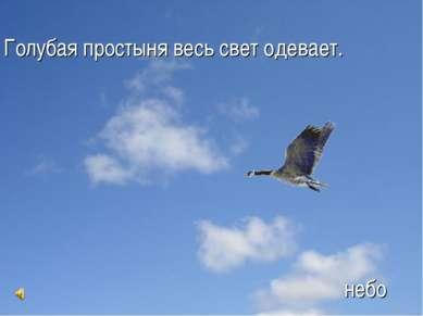 Голубая простыня весь свет одевает. небо