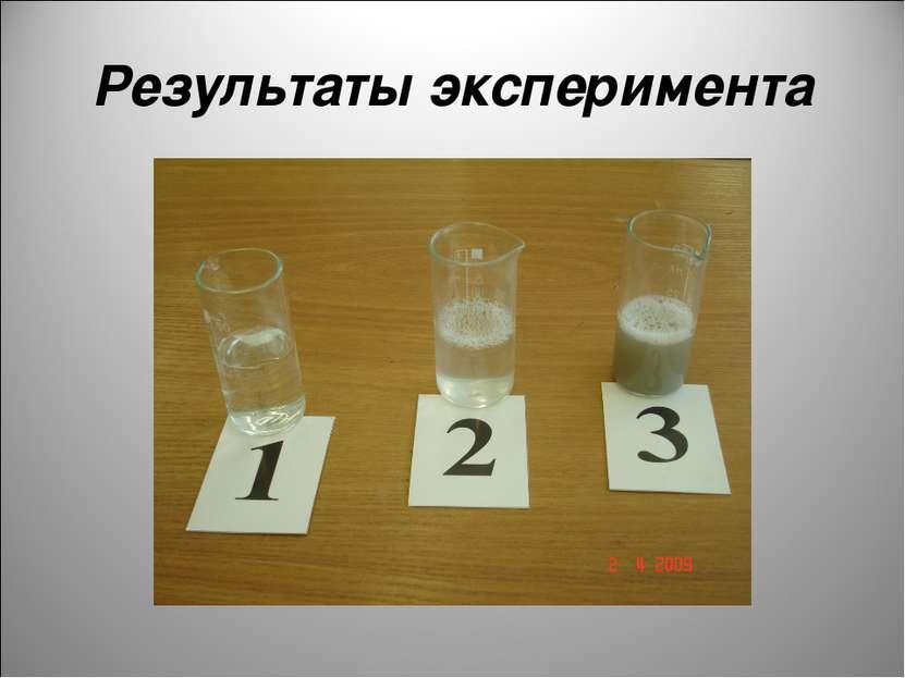 Результаты эксперимента