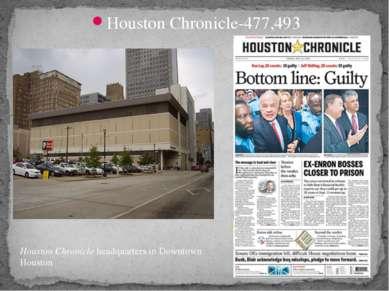 Houston Chronicle-477,493 Houston Chronicleheadquarters in Downtown Houston