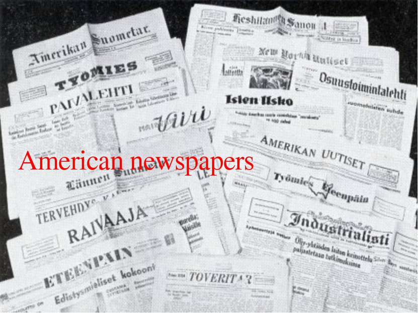 American newspapers