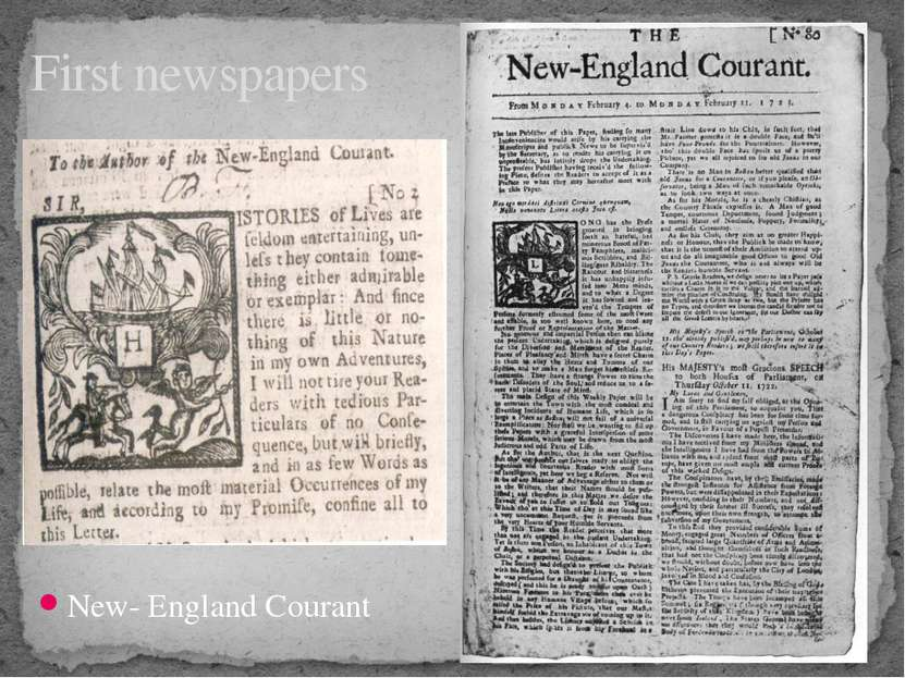 New- England Courant First newspapers