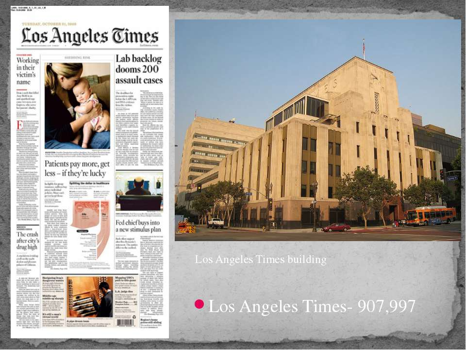 Los Angeles Times- 907,997 Los Angeles Times building