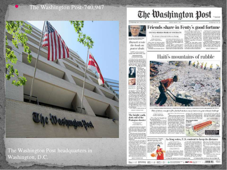 The Washington Post-740,947 The Washington Post headquarters in Washington, D.C.