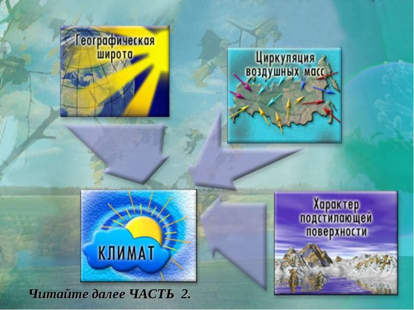 Читайте далее ЧАСТЬ 2. Силы воздействующие на климат