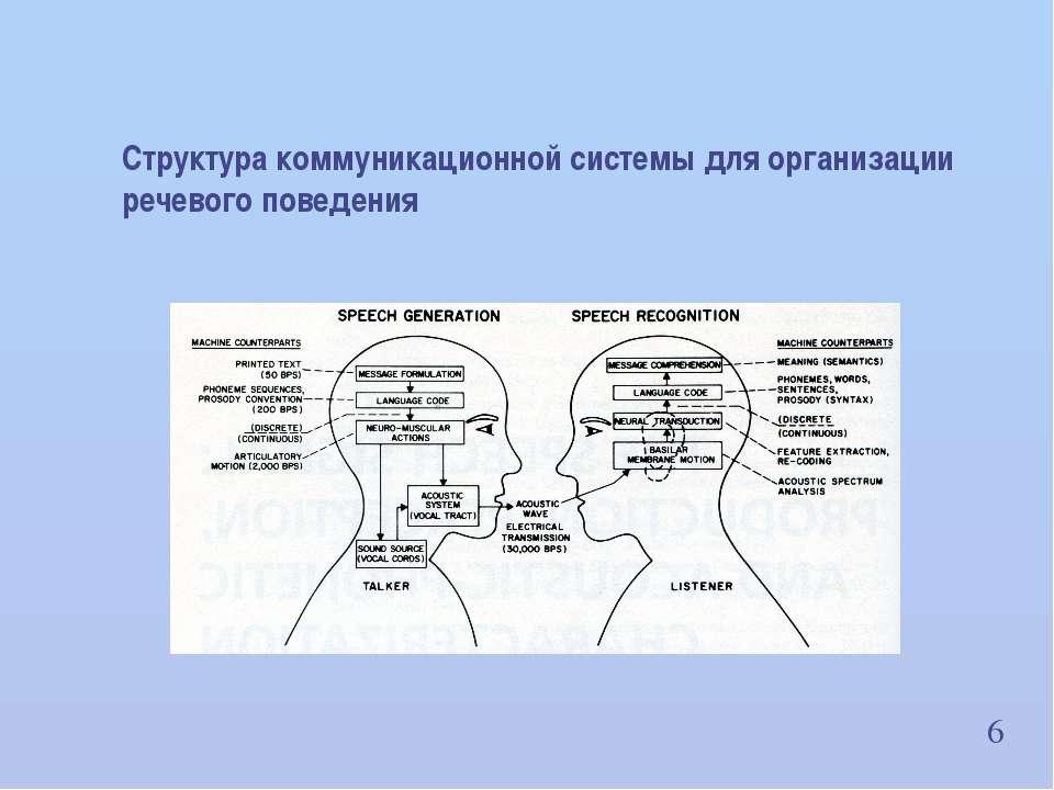 6 Структура коммуникационной системы для организации речевого поведения ИВНД ...