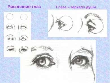 Рисование глаз Глаза – зеркало души.