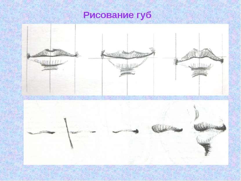 Рисование губ