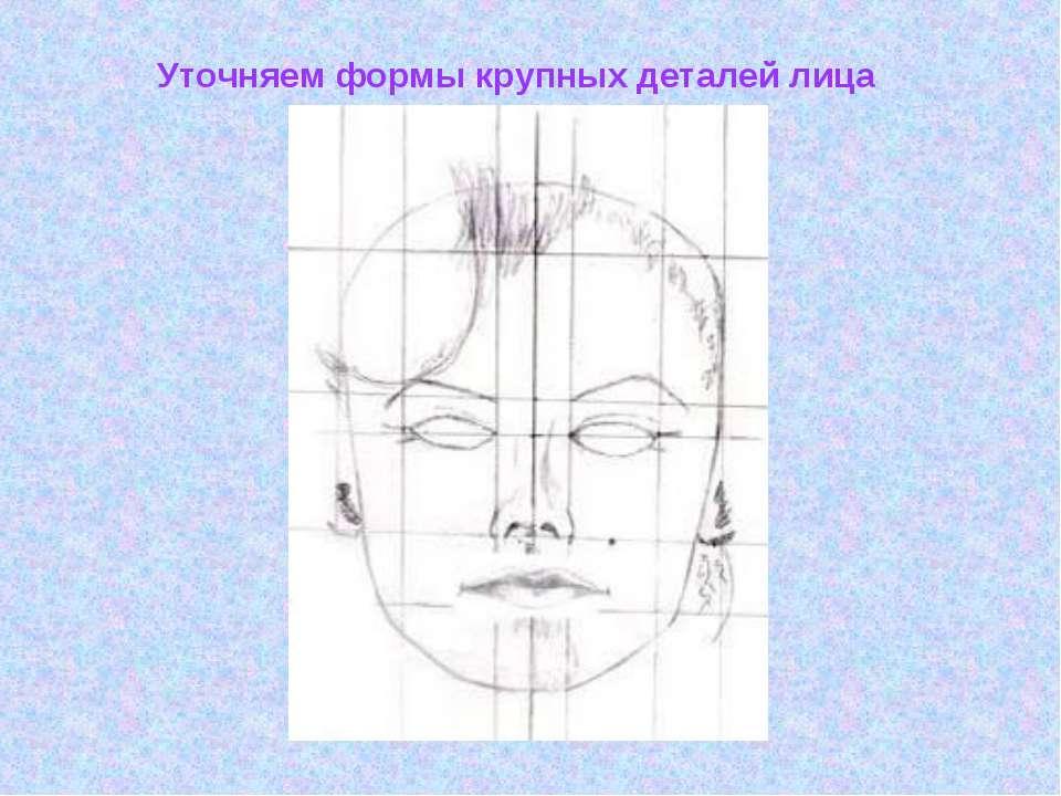 Уточняем формы крупных деталей лица