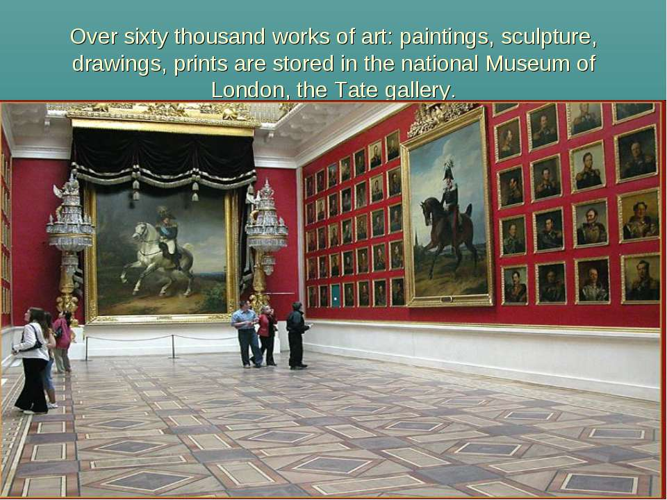 Over sixty thousand works of art: paintings, sculpture, drawings, prints are ...